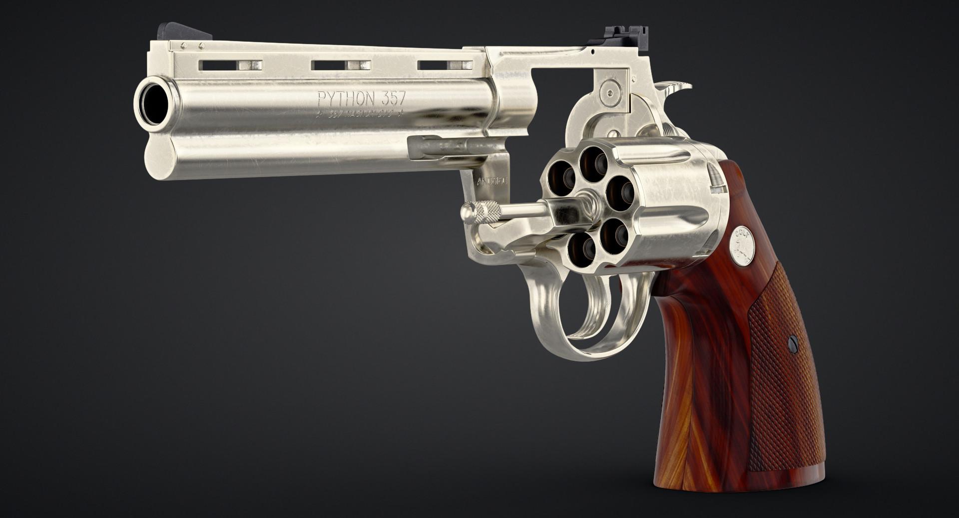 ArtStation - Revolver Colt Python, Dima Ishutin
