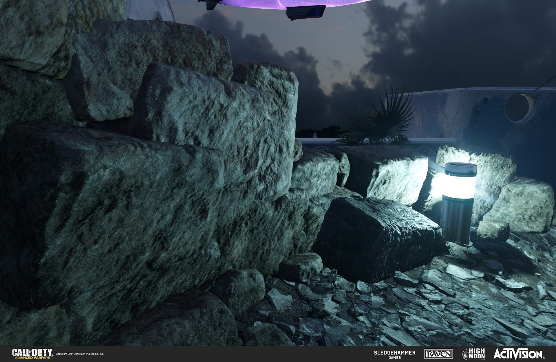 Created rock models and light canister in the ruins of Terrace. The rocks were done in Z-Brush and the light canister in 3DSMax.