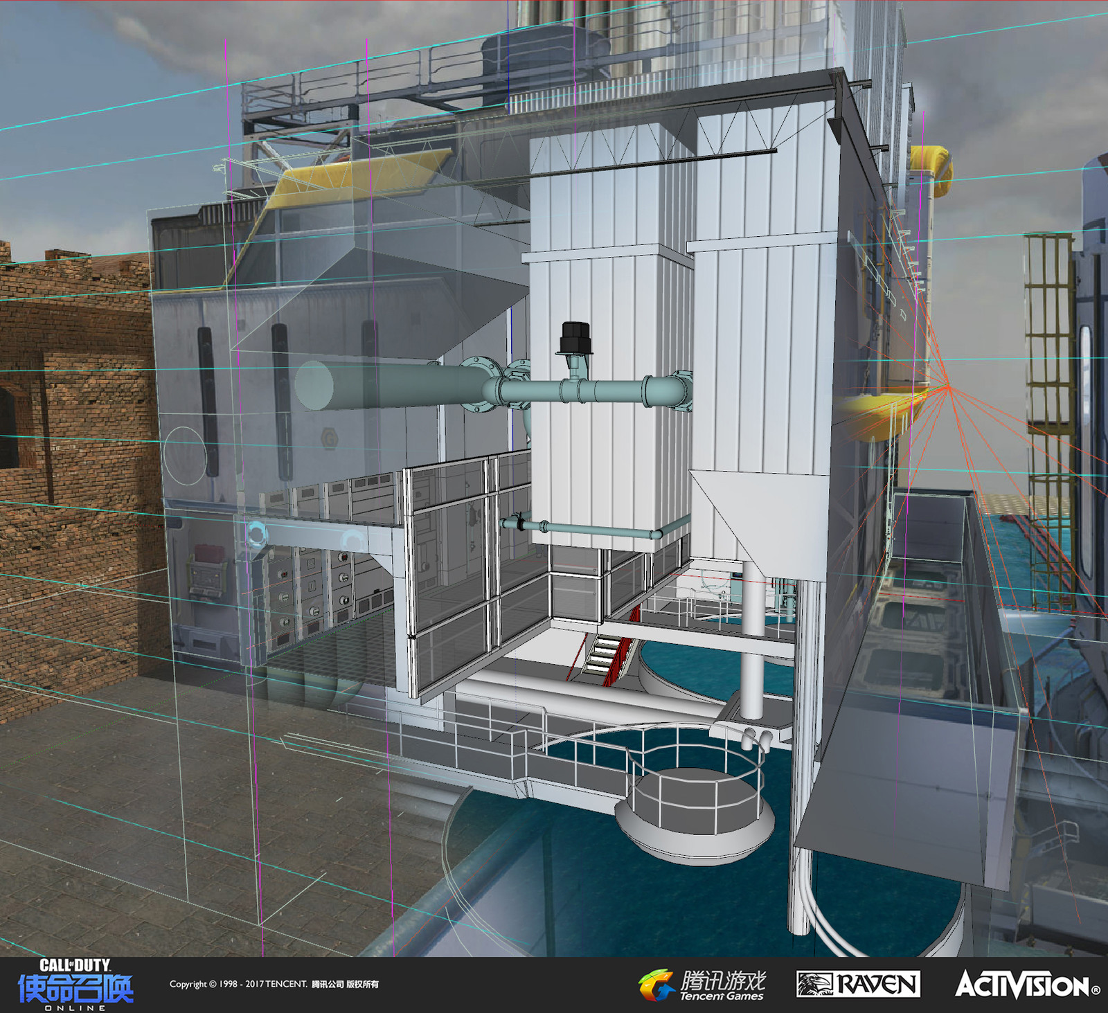 For the interior concept of the water filtration building, I used SketchUp to deal with tight and narrow interior space.