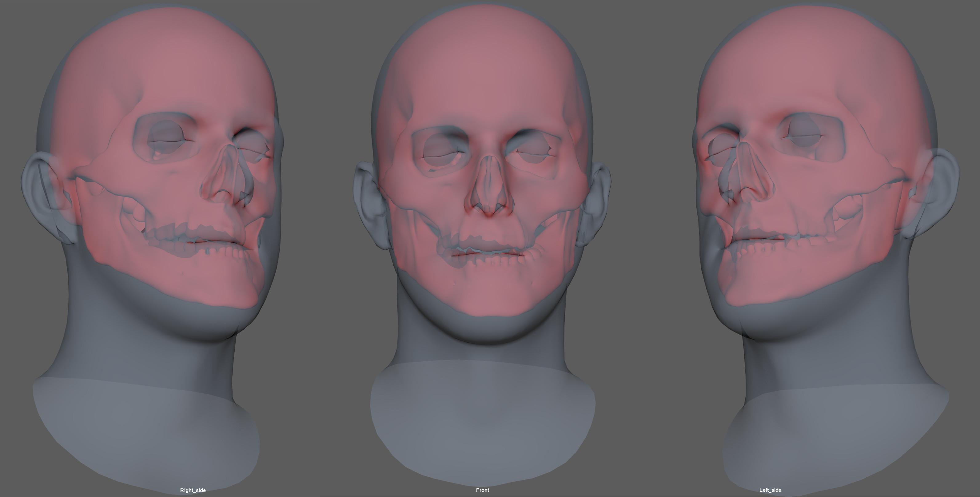 Red skull in position