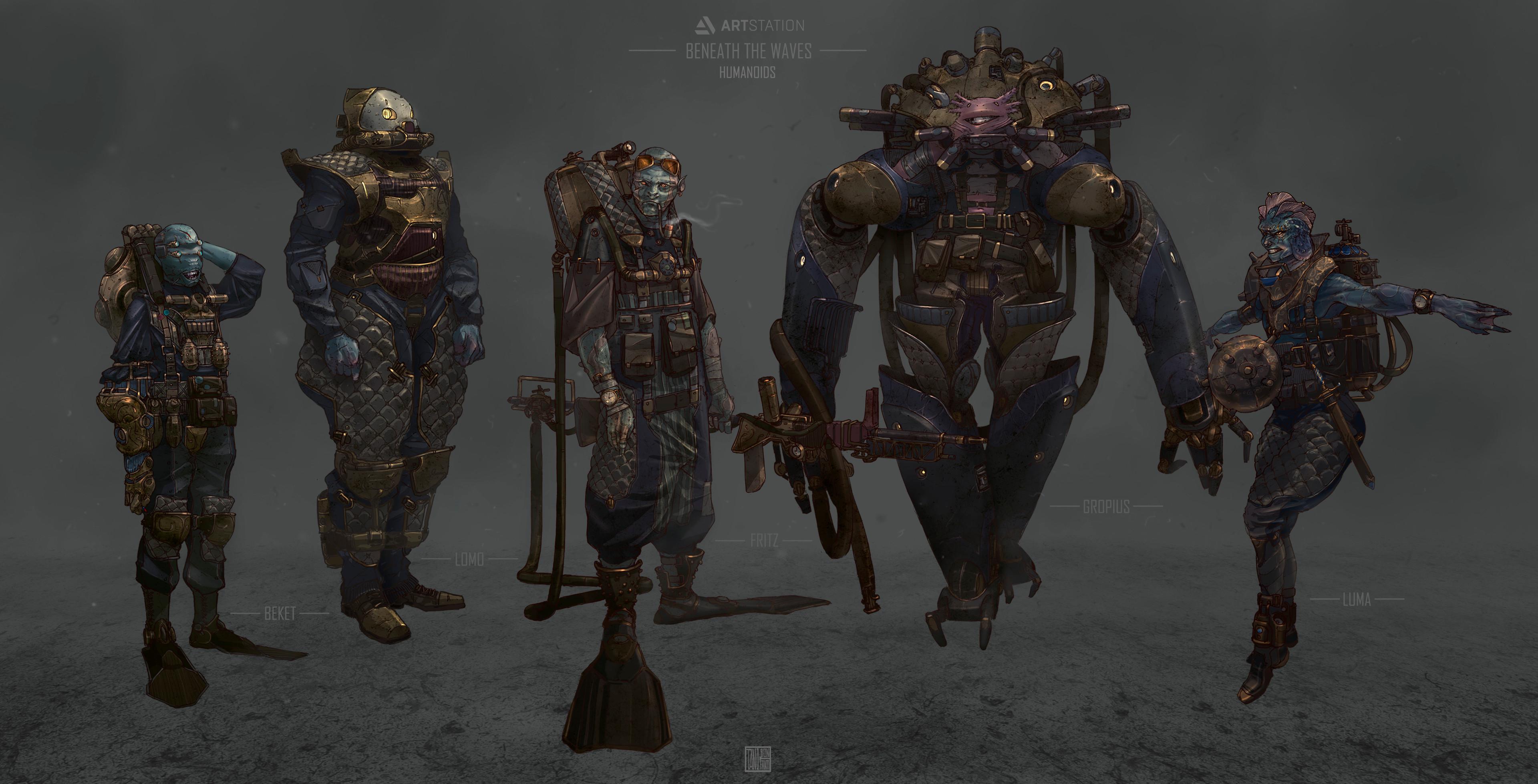 Humanoids Line up
