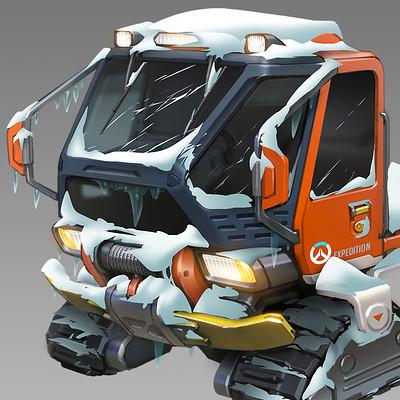 Ben zhang antarctica snow truck concept