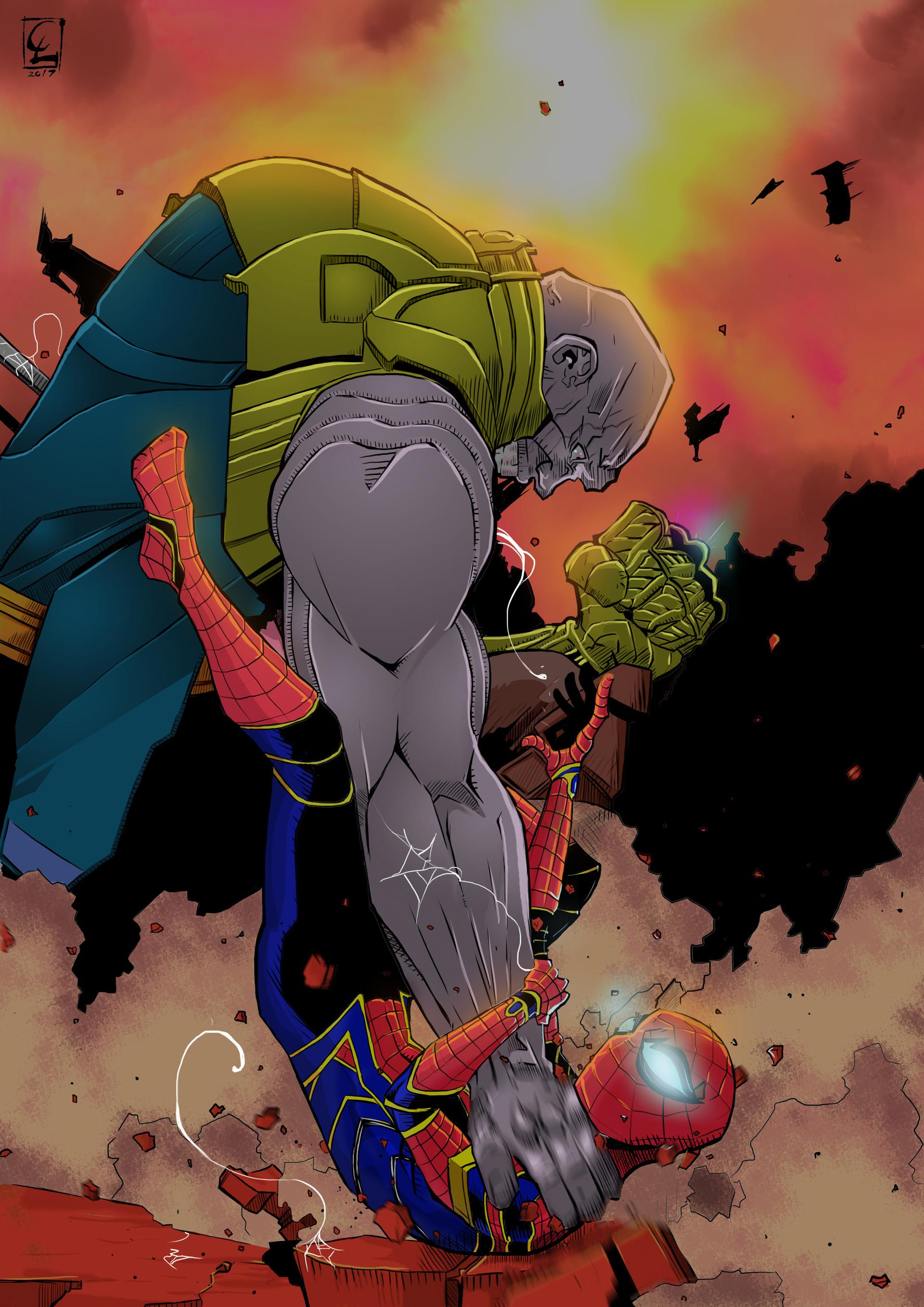 ArtStation - Avengers: Infinity War - Thanos v Spiderman ...