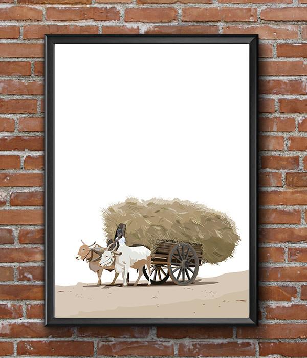 Rajesh r sawant bullock cart with hay