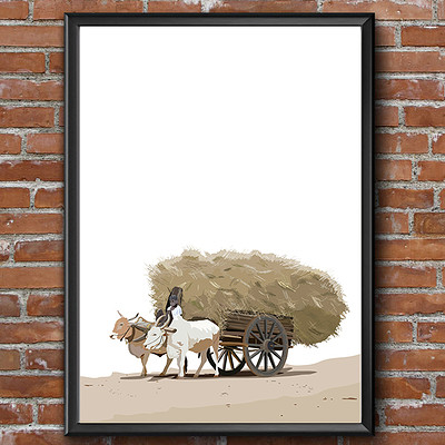 Rajesh r sawant bullock cart with hay