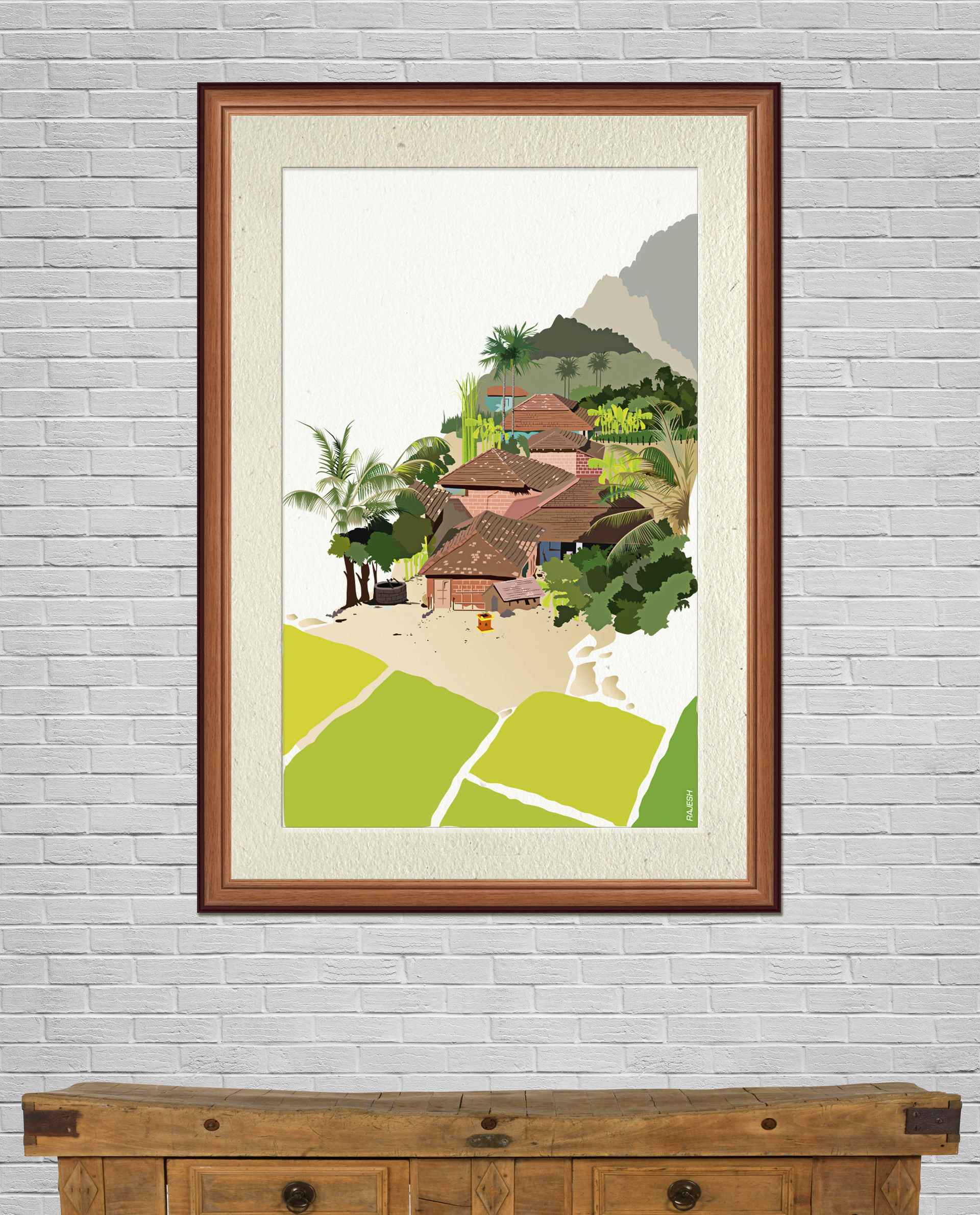 Rajesh r sawant konkan framed on wall