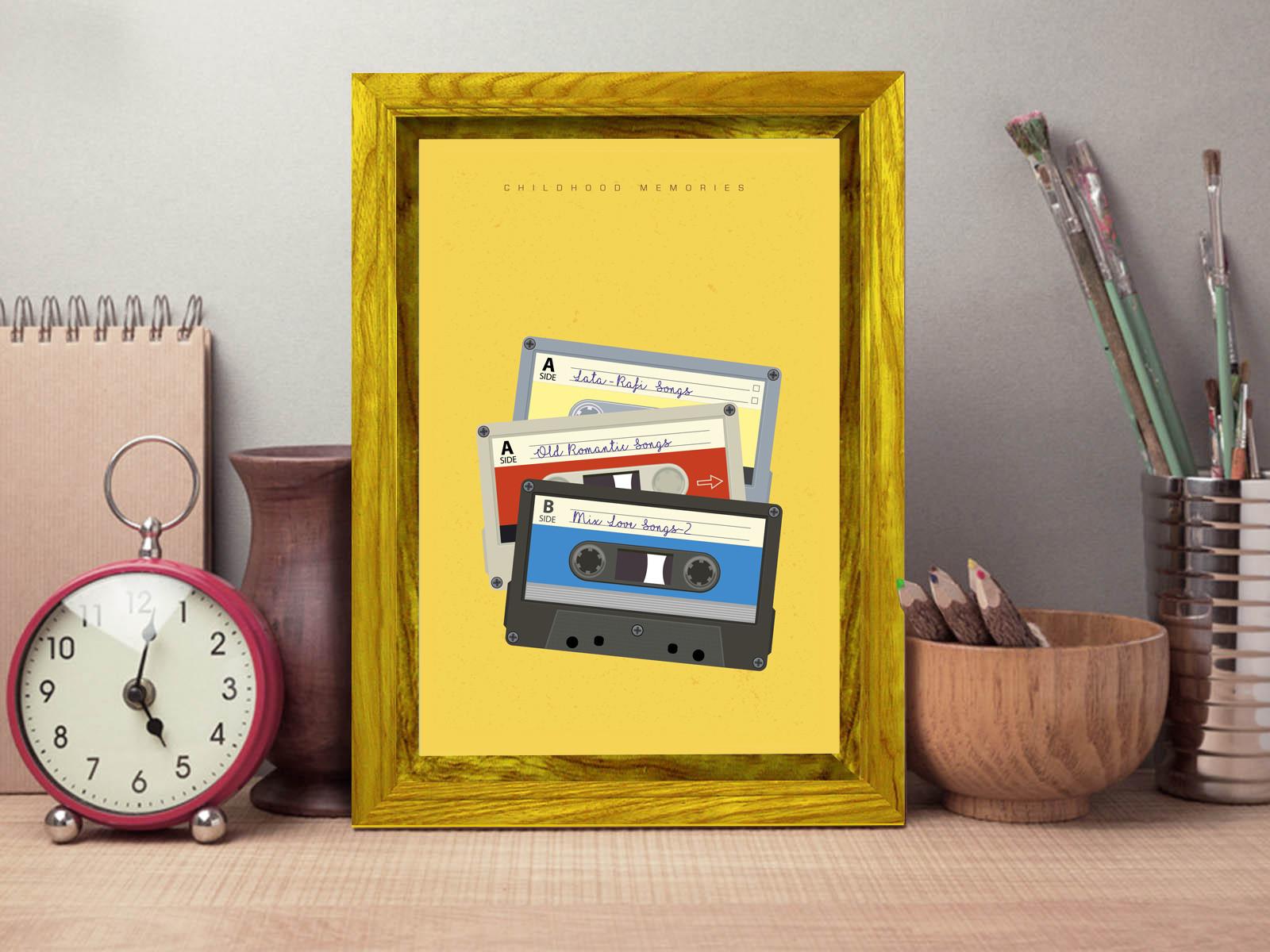 Rajesh r sawant audio casette frame