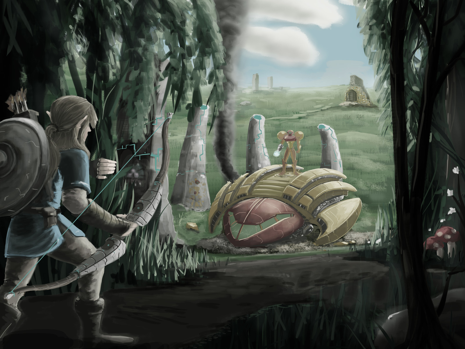 Link and Samus