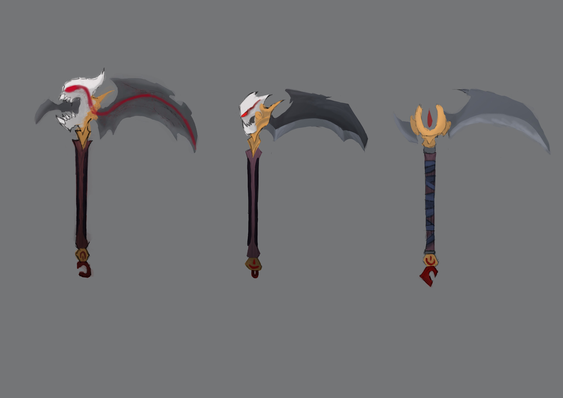 Artstation In Game Final Version Blood Moon Kayn And Scythes Ruben Lainez