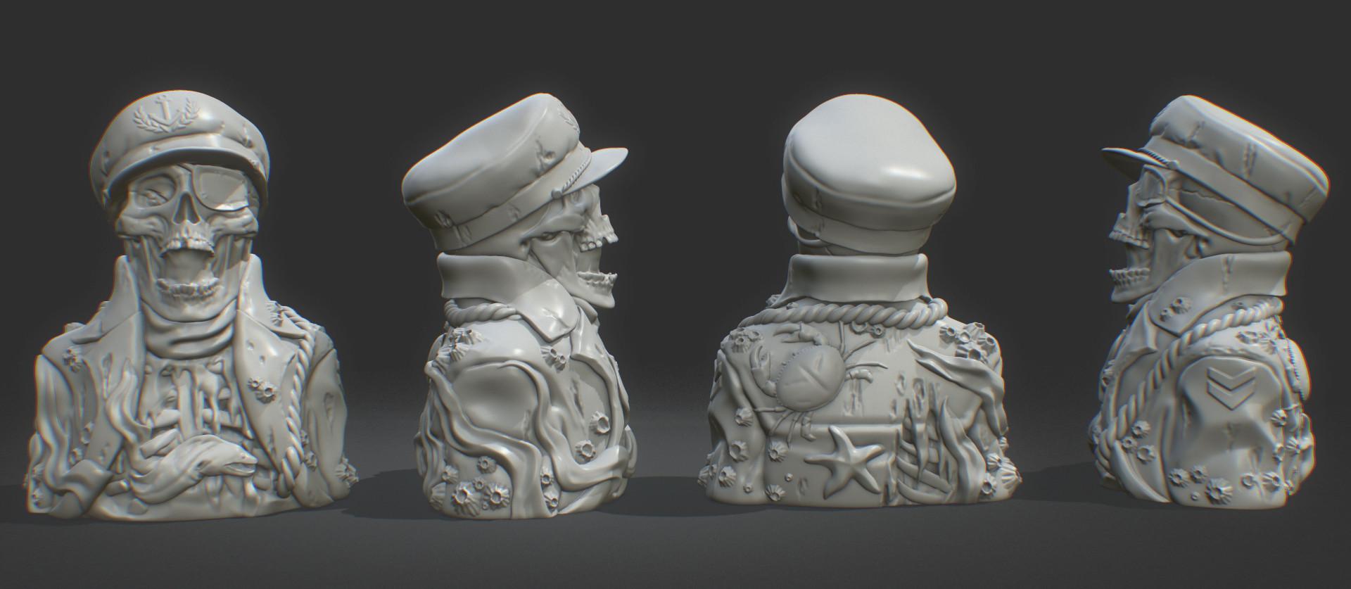 Robert fink skullcaptain finksculpt