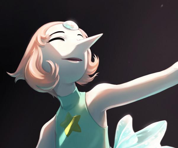 Kala sketch pearl closeup