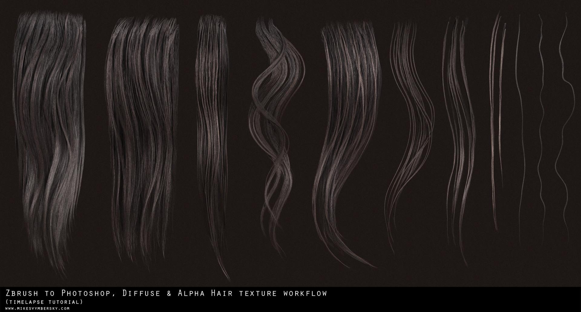 artstation hair texture diffuse alpha tutorial mike svymbersky