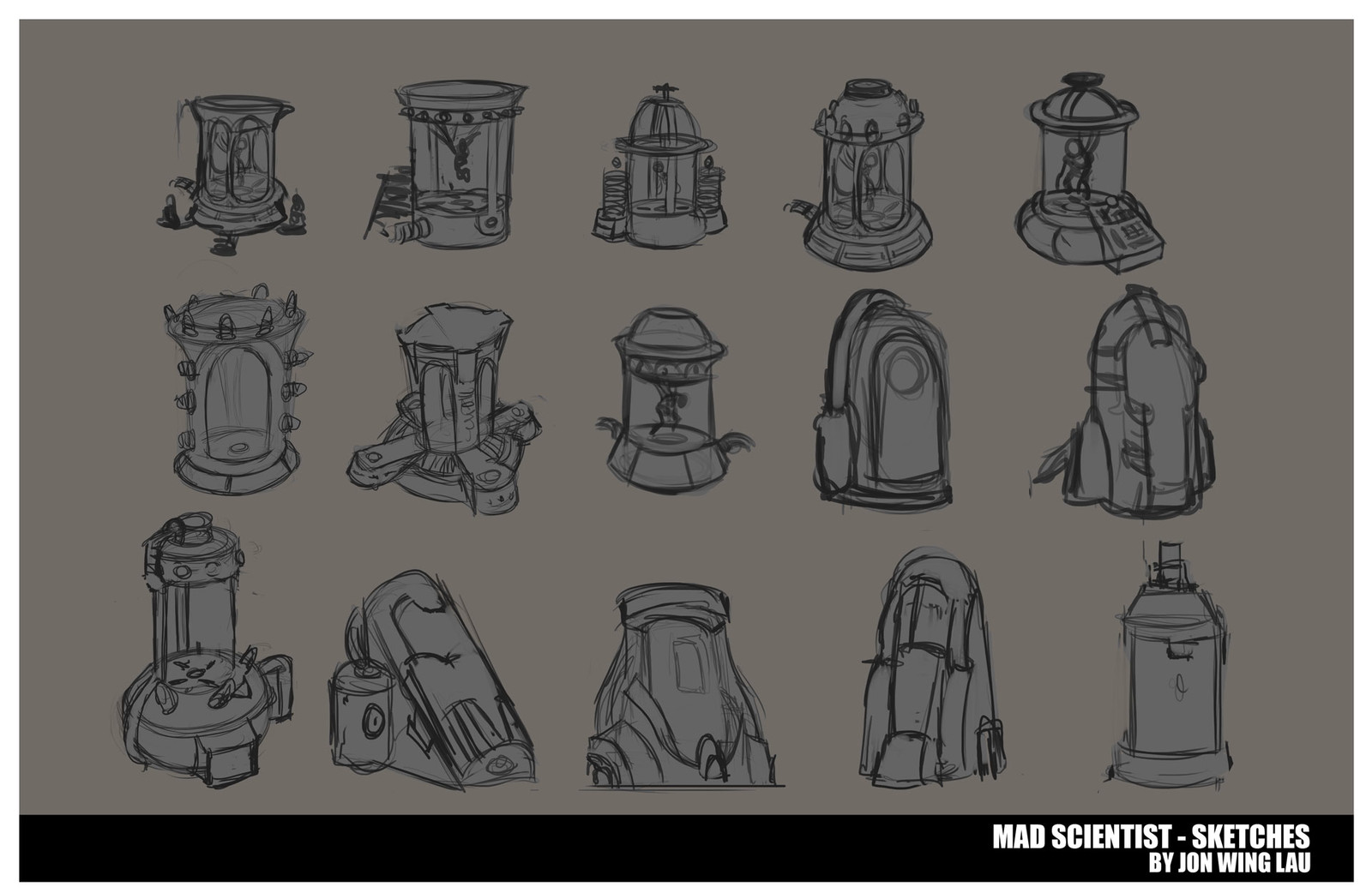 Mad Scientist - Sketches
