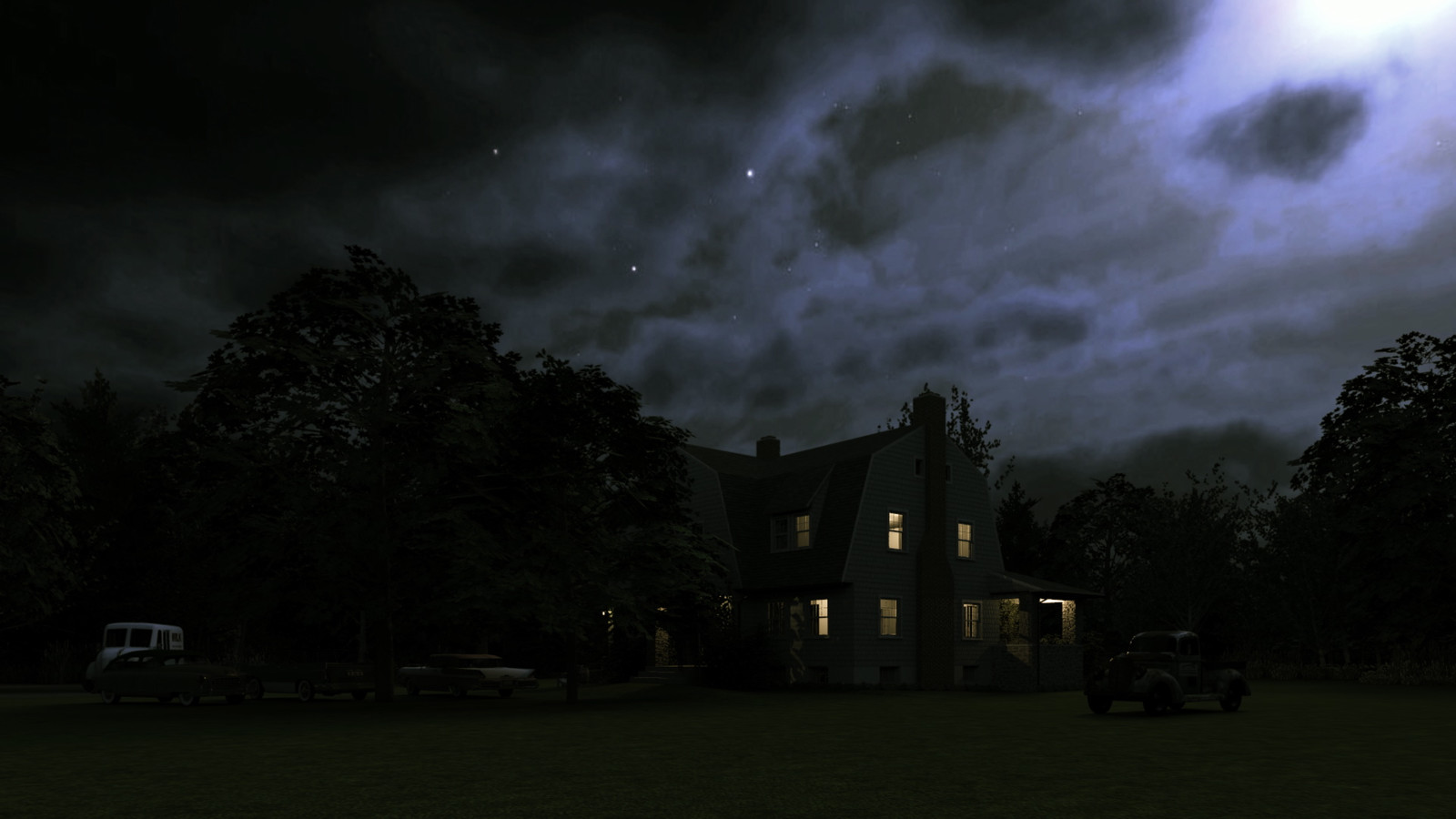 """""""Mason Farm - Moonlight Sonata"""" Full Moon Collection  30 Masonfarm HD1080 27b - iP Kodac  """"SketchUp to LayOut"""" The Mason Farm Renders for the launching of the new book """"SketchUp to LayOut"""" http://bit.ly/2j0d0Wh by MasterSketchup."""