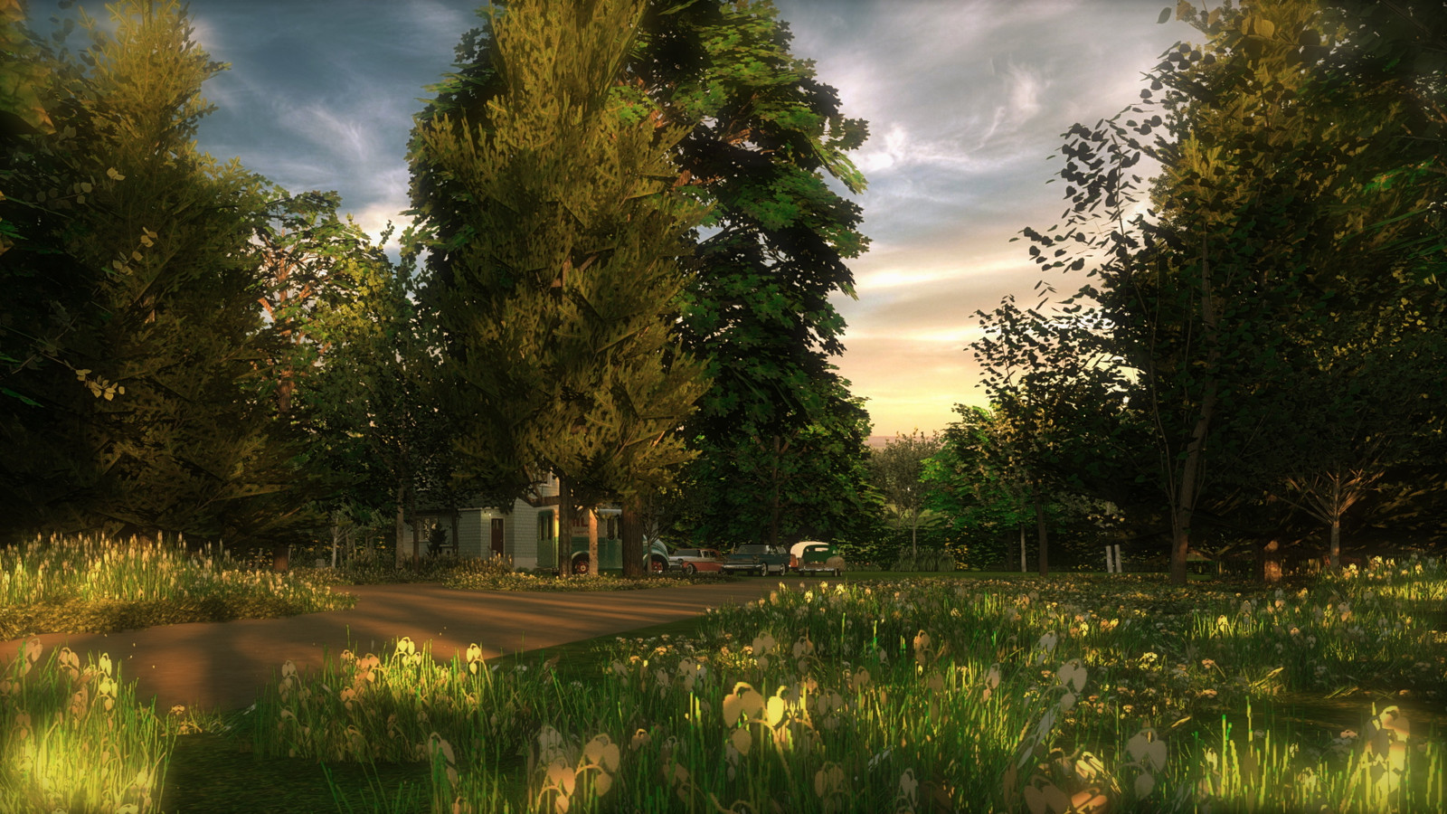 """""""Mason Farm - Heaven's Gate"""" Summer Sun Collection  23 Masonfarm HD1080 28 - iP Kodac  """"SketchUp to LayOut"""" The Mason Farm Renders for the launching of the new book """"SketchUp to LayOut"""" http://bit.ly/2j0d0Wh by MasterSketchup."""
