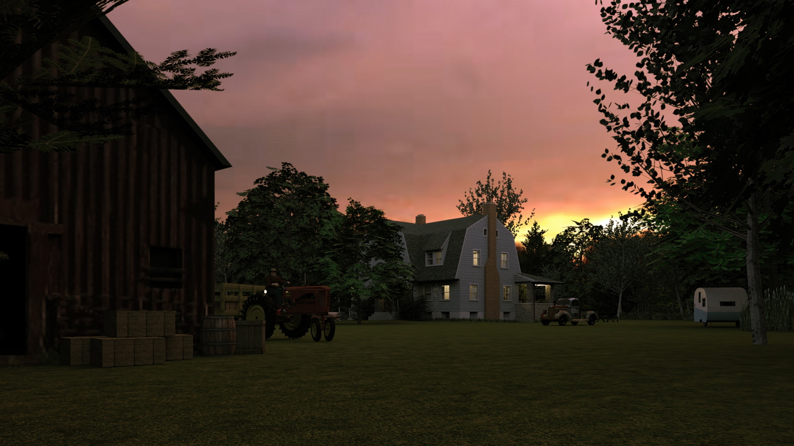 """""""Mason Farm - Sight For Soar Eyes (B)"""" Magic Hour Collection  24 Masonfarm HD1080 17b - iP Kodac  """"SketchUp to LayOut"""" The Mason Farm Renders for the launching of the new book """"SketchUp to LayOut"""" http://bit.ly/2j0d0Wh by MasterSketchup."""