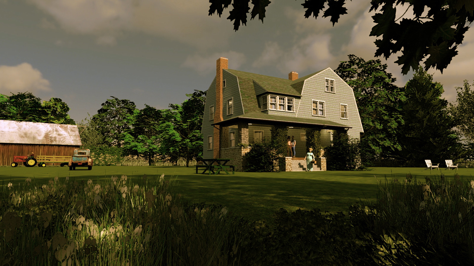 """""""Mason Farm - Sweet Summer Breeze"""" Summer Sun Collection   20 Masonfarm HD1080 22 - iP Kodac  """"SketchUp to LayOut"""" The Mason Farm Renders for the launching of the new book """"SketchUp to LayOut"""" http://bit.ly/2j0d0Wh by MasterSketchup."""
