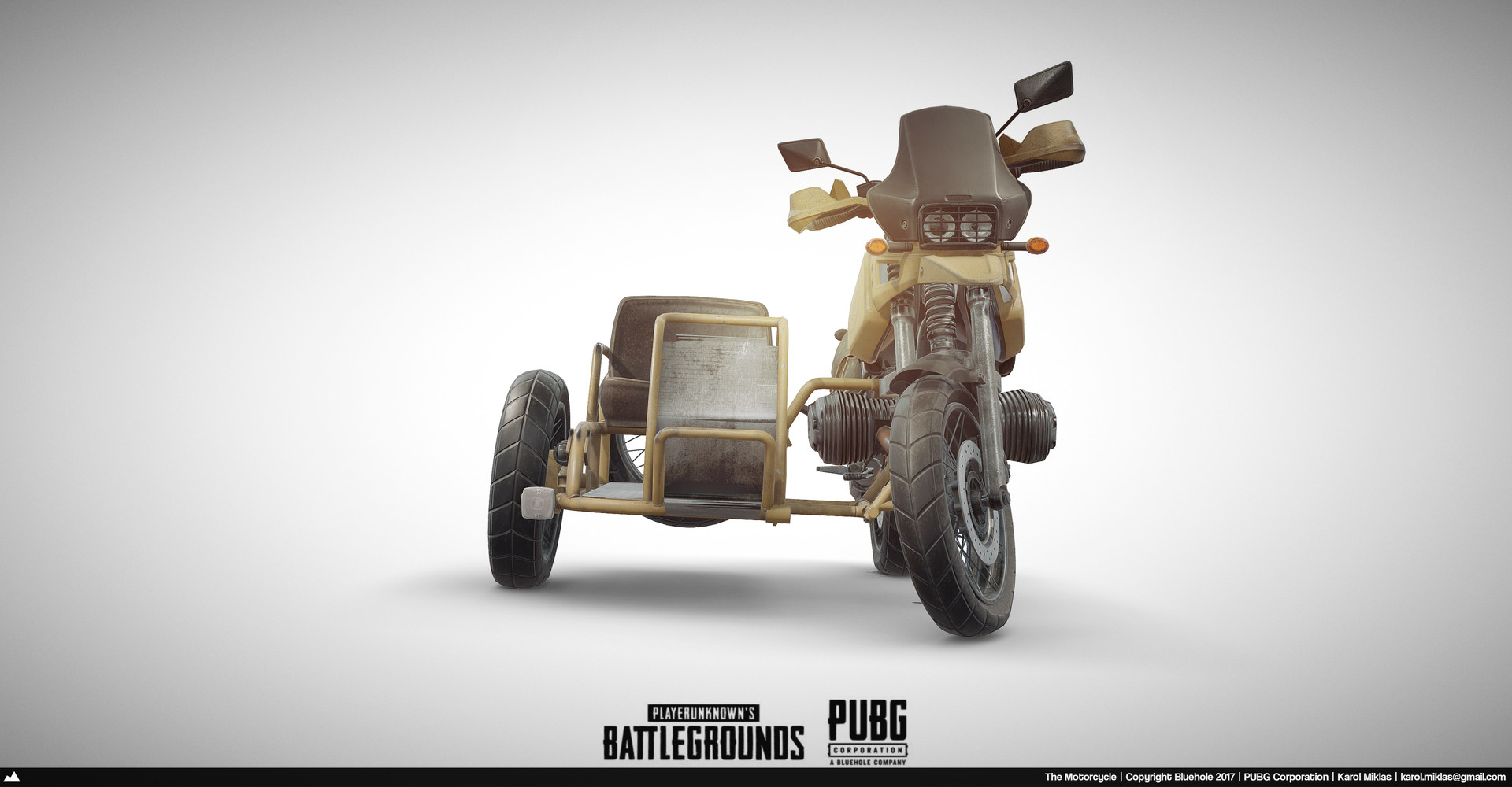 3d Model Playerunknown S Battlegrounds Buggy By Kmiklas: Playerunknown's Battlegrounds: Motorcycle