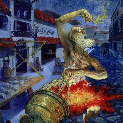 Andres campos viejo loco en las calles de roma
