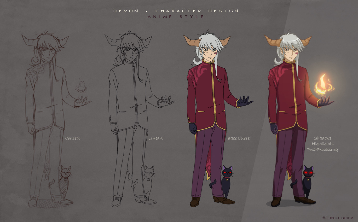 Anime Demon Concept Art