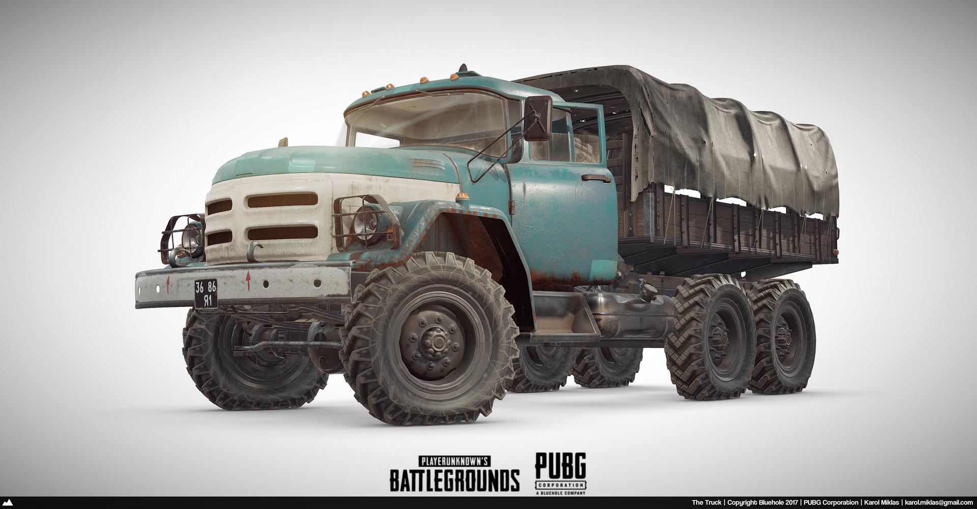 3d Model Playerunknown S Battlegrounds Buggy By Kmiklas: Playerunknown's Battlegrounds: Truck