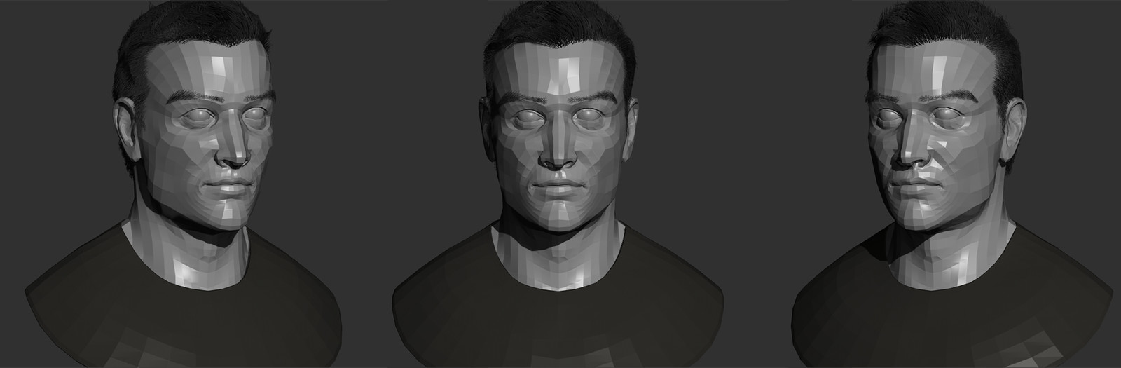 Retopologized the sculpt from Zbrush in Maya.