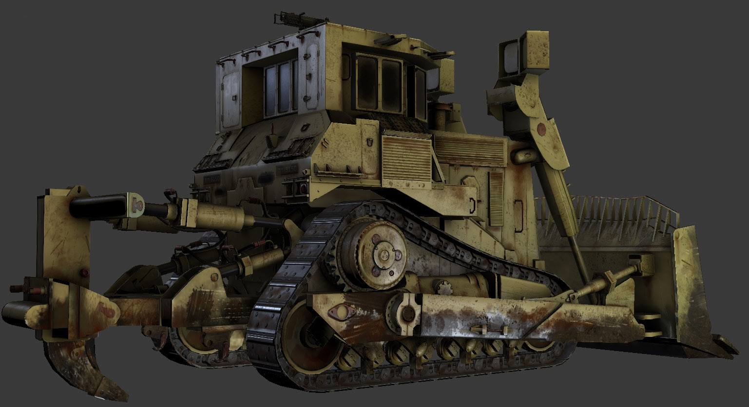 Render of textured low-poly model as shown in 3DSMax viewport using Xoliul Shader (developed by Laurens Corjin)