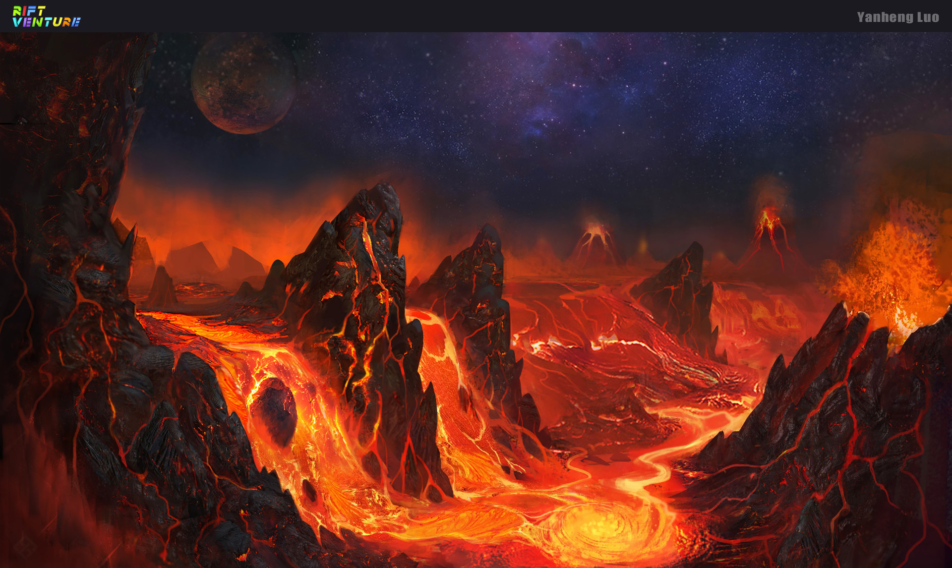 artstation lava world yanheng luo. Black Bedroom Furniture Sets. Home Design Ideas