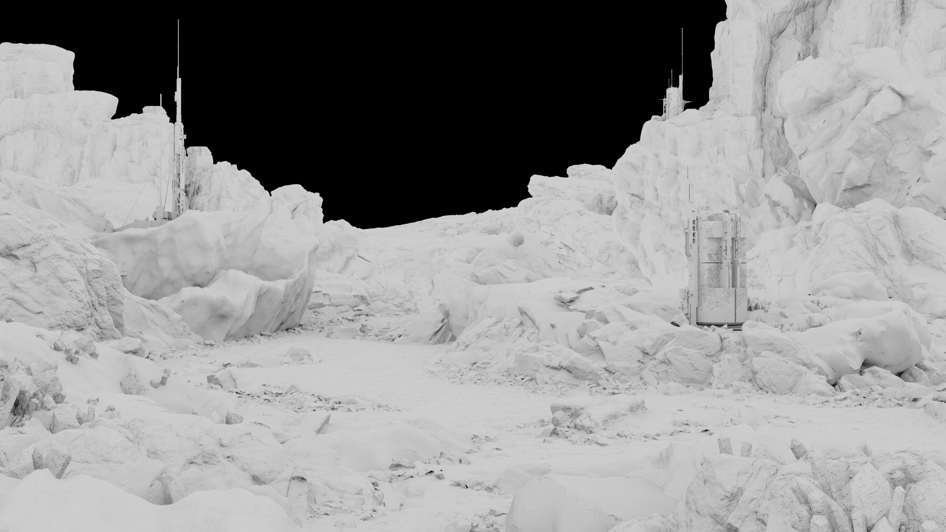 Ambient Occlusion - shows nicely what geometry is used.