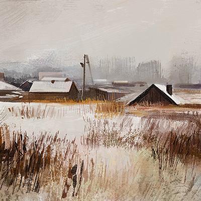 Tymoteusz chliszcz landscape winter by chliszcz
