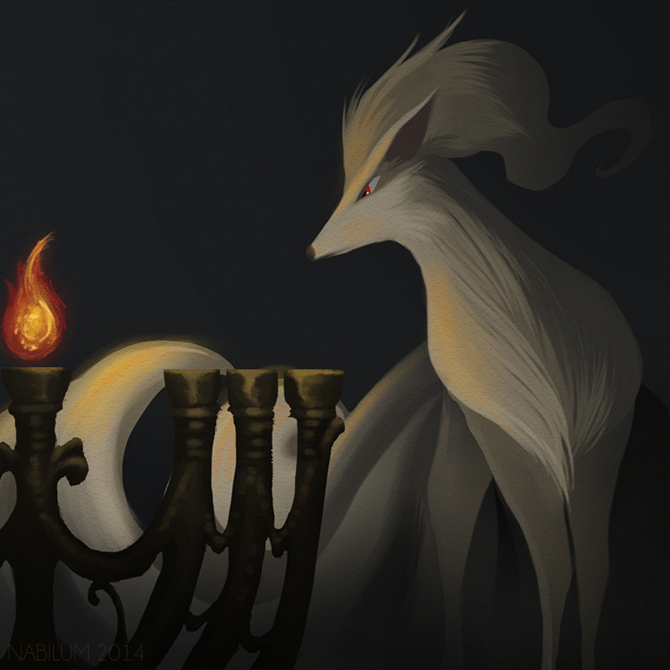 Twenty sixth Day - Nimah and the Menorah (Ninetales)