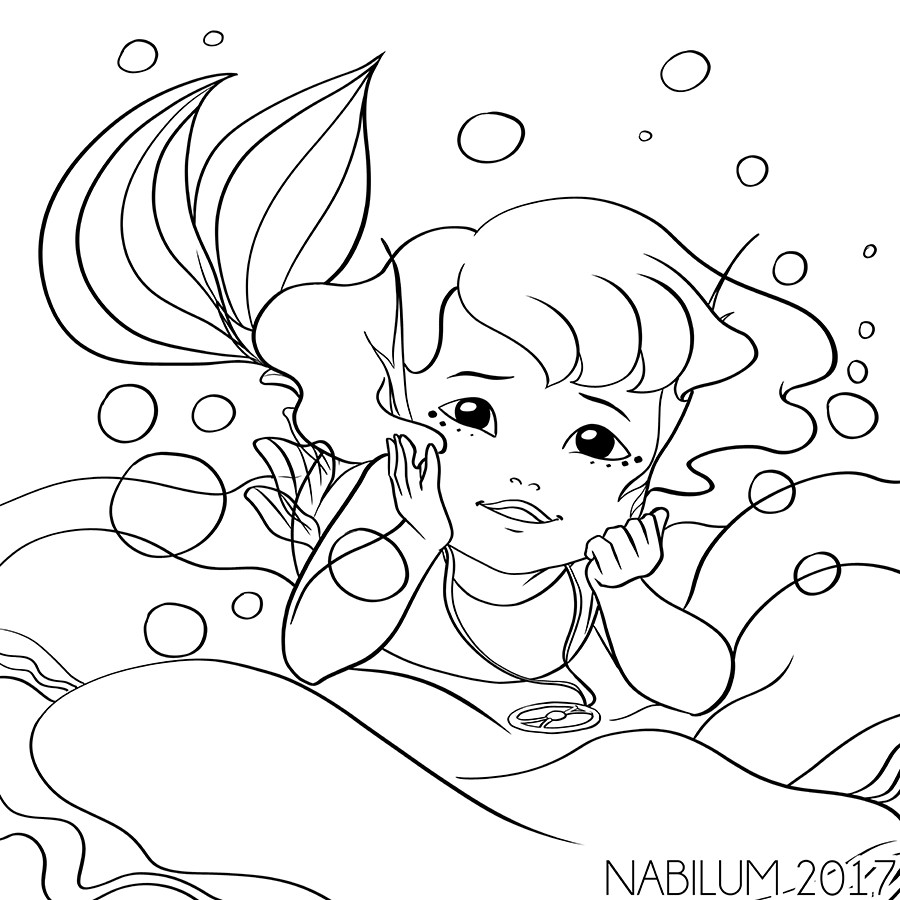 Suika mini coloring page