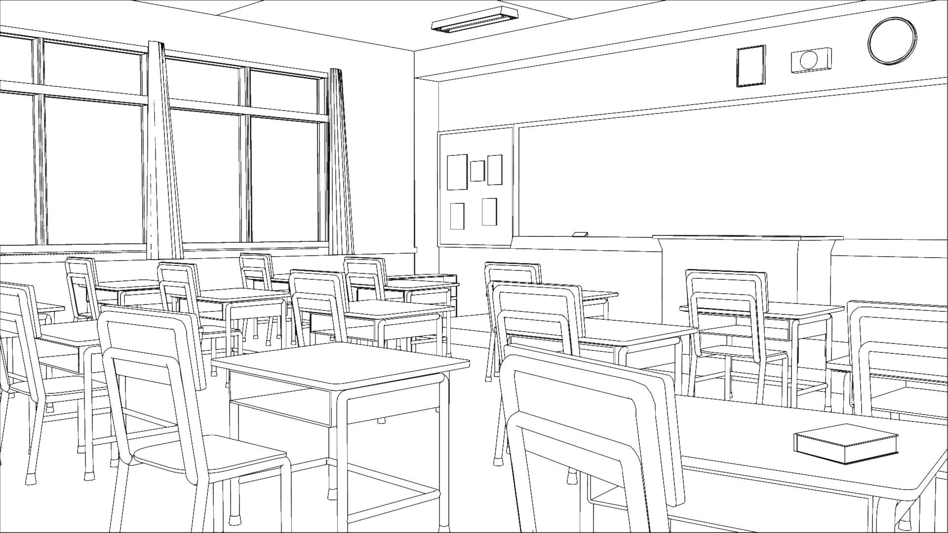 Artstation Anime Classroom Steven Kent Lomtong