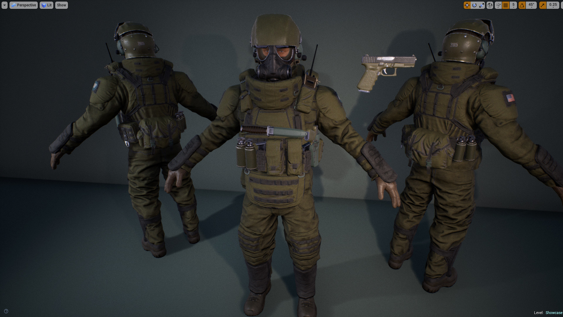ArtStation - Heavy G soldier and Free Pistol Asset, Alex Ponomarev