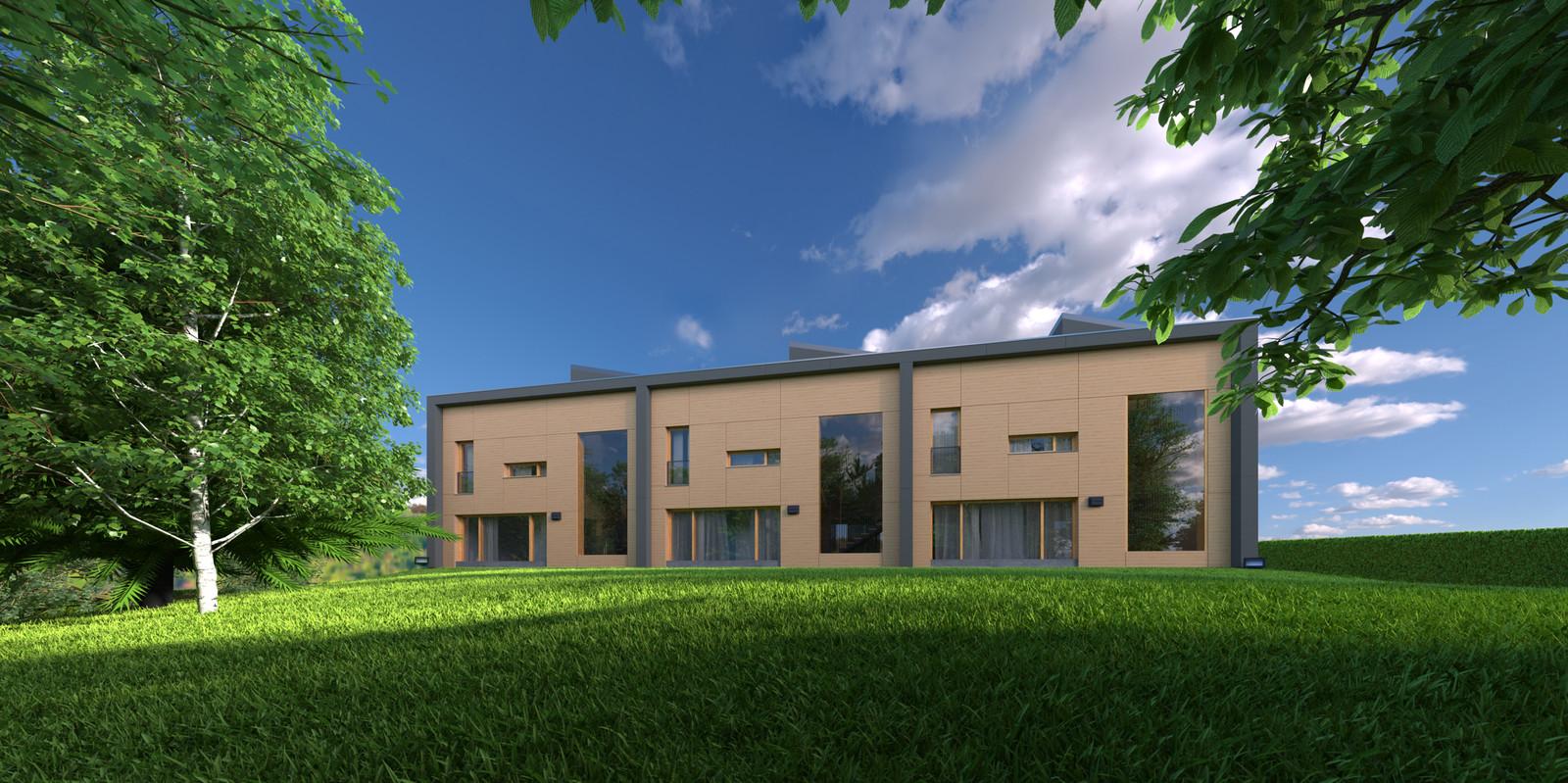 04 Exterior N ground New 03B A  KP webpage of project: http://www.kemppro.com/KP_3D_communication_3_Villas_Veyrier.html