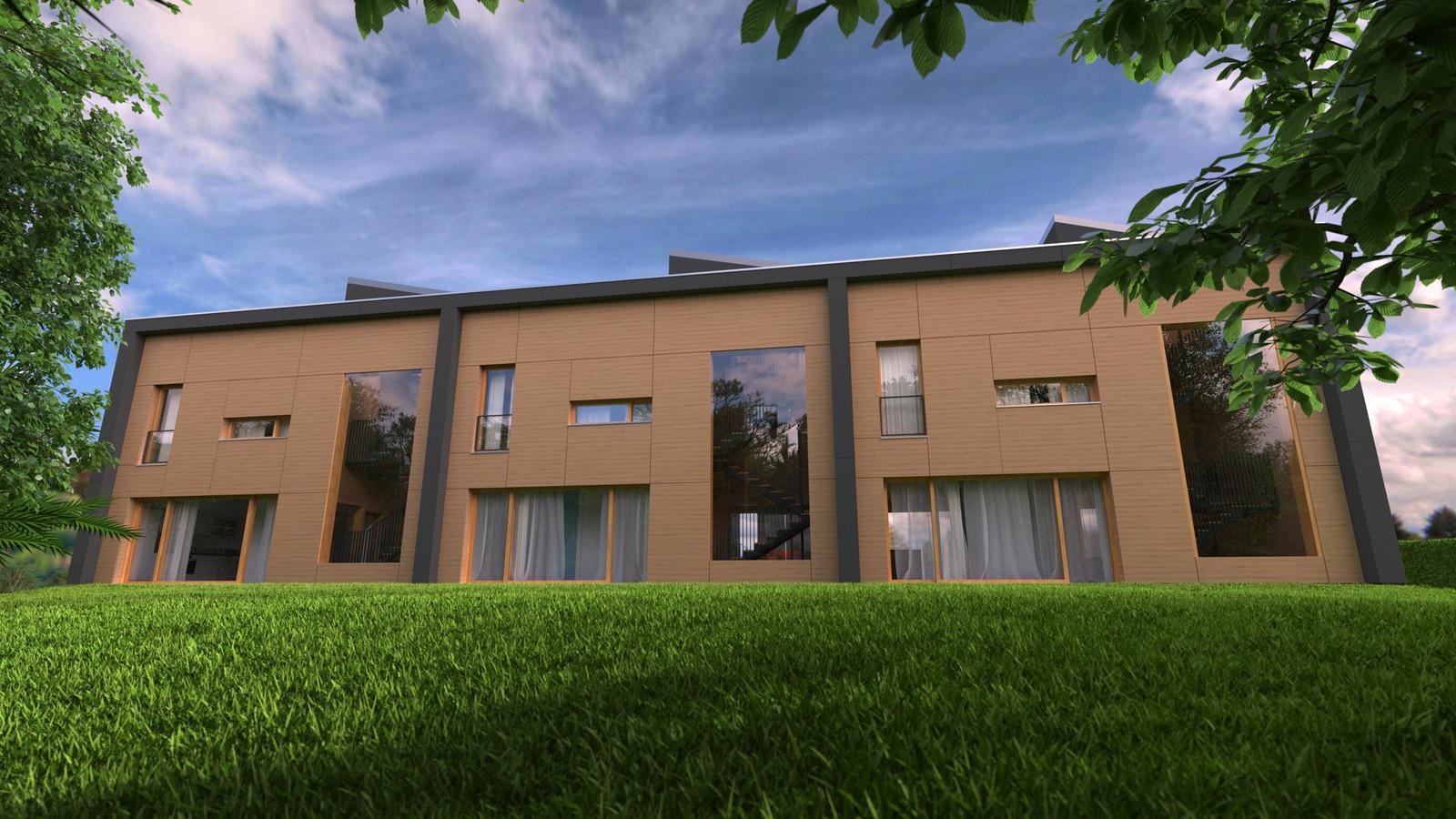 05 Exterior N ground level 04  KP webpage of project: http://www.kemppro.com/KP_3D_communication_3_Villas_Veyrier.html
