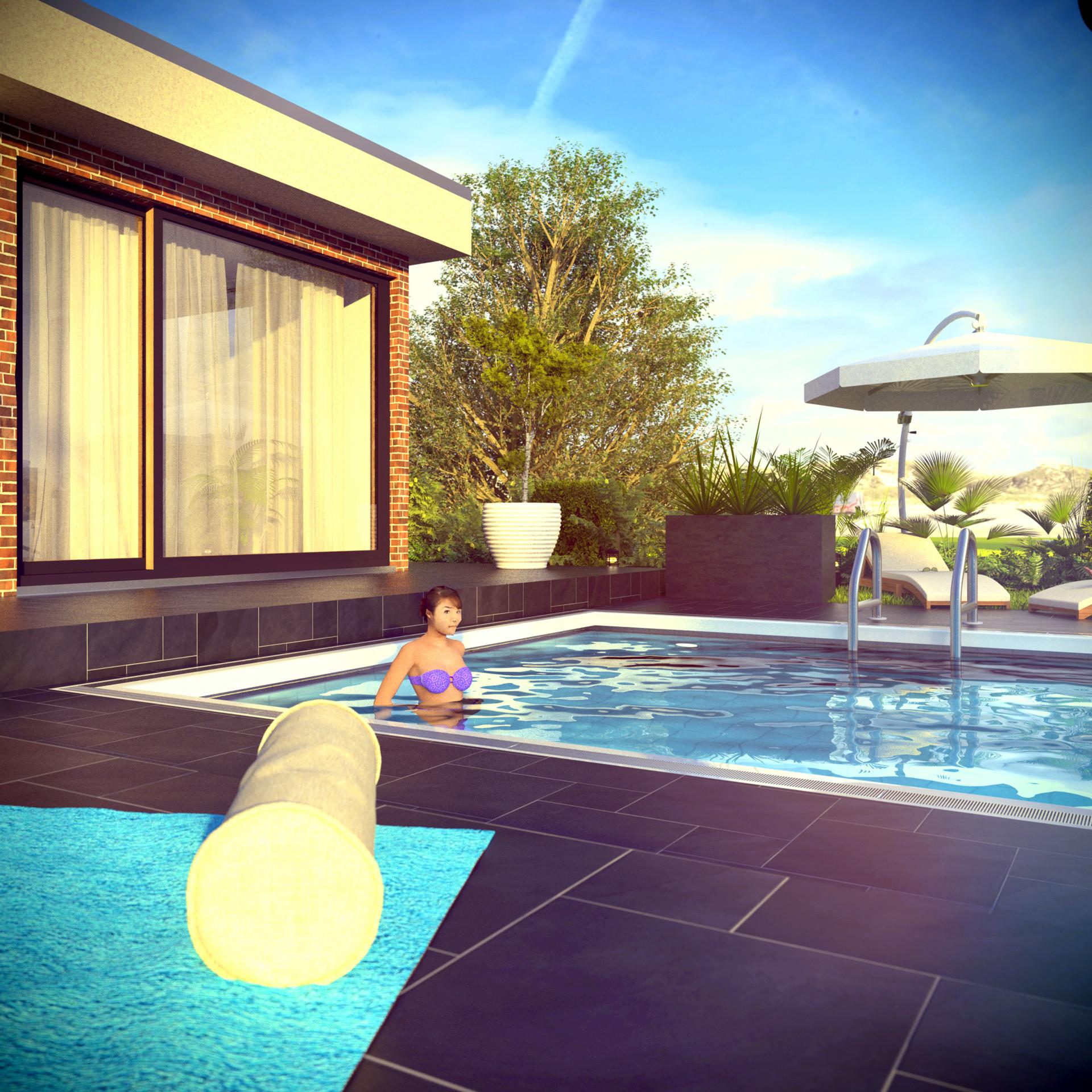 Duane kemp 16 bungalow poolside scene 63 lumina rise