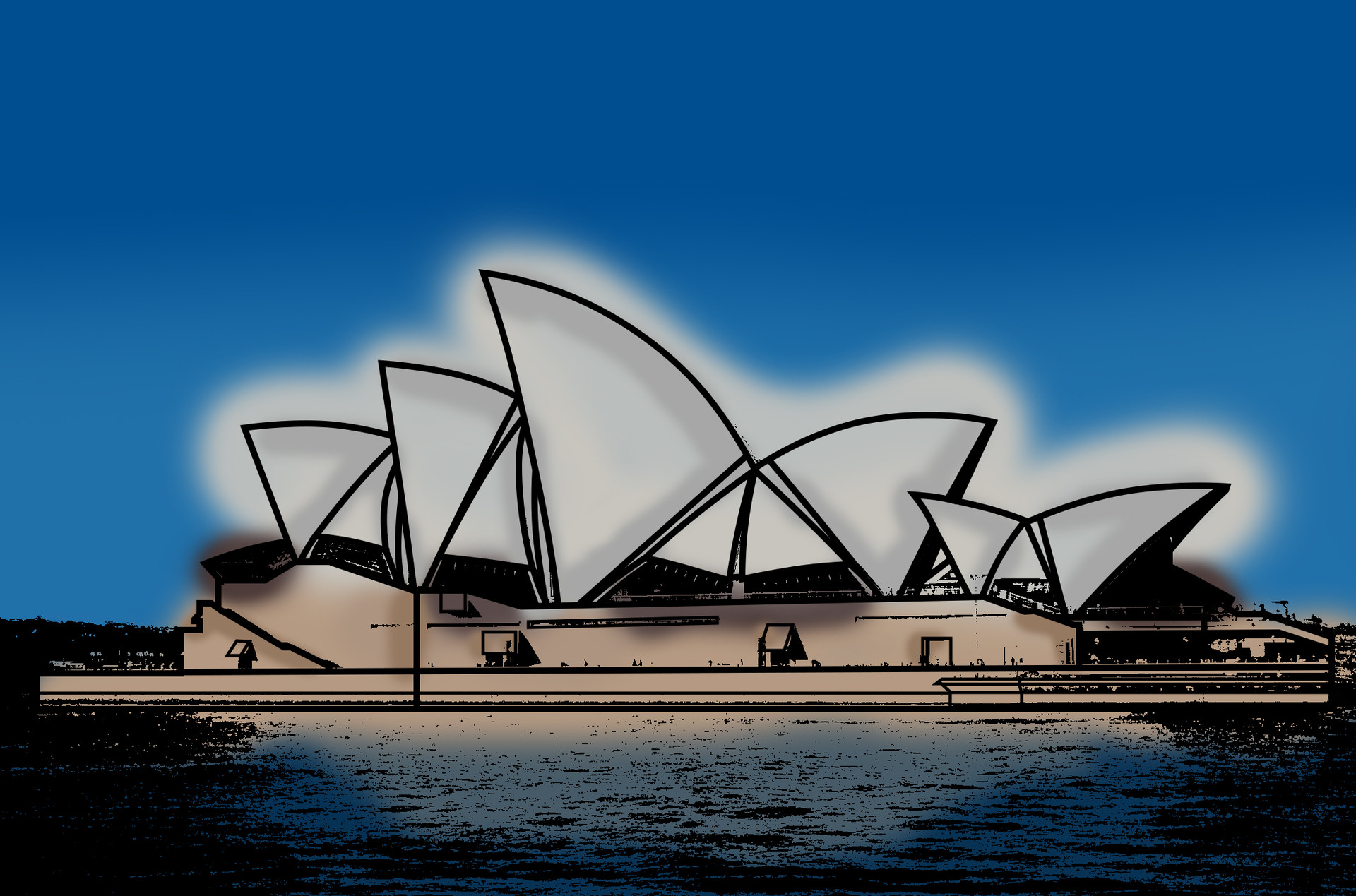 Rustic orcullo sydney opera house