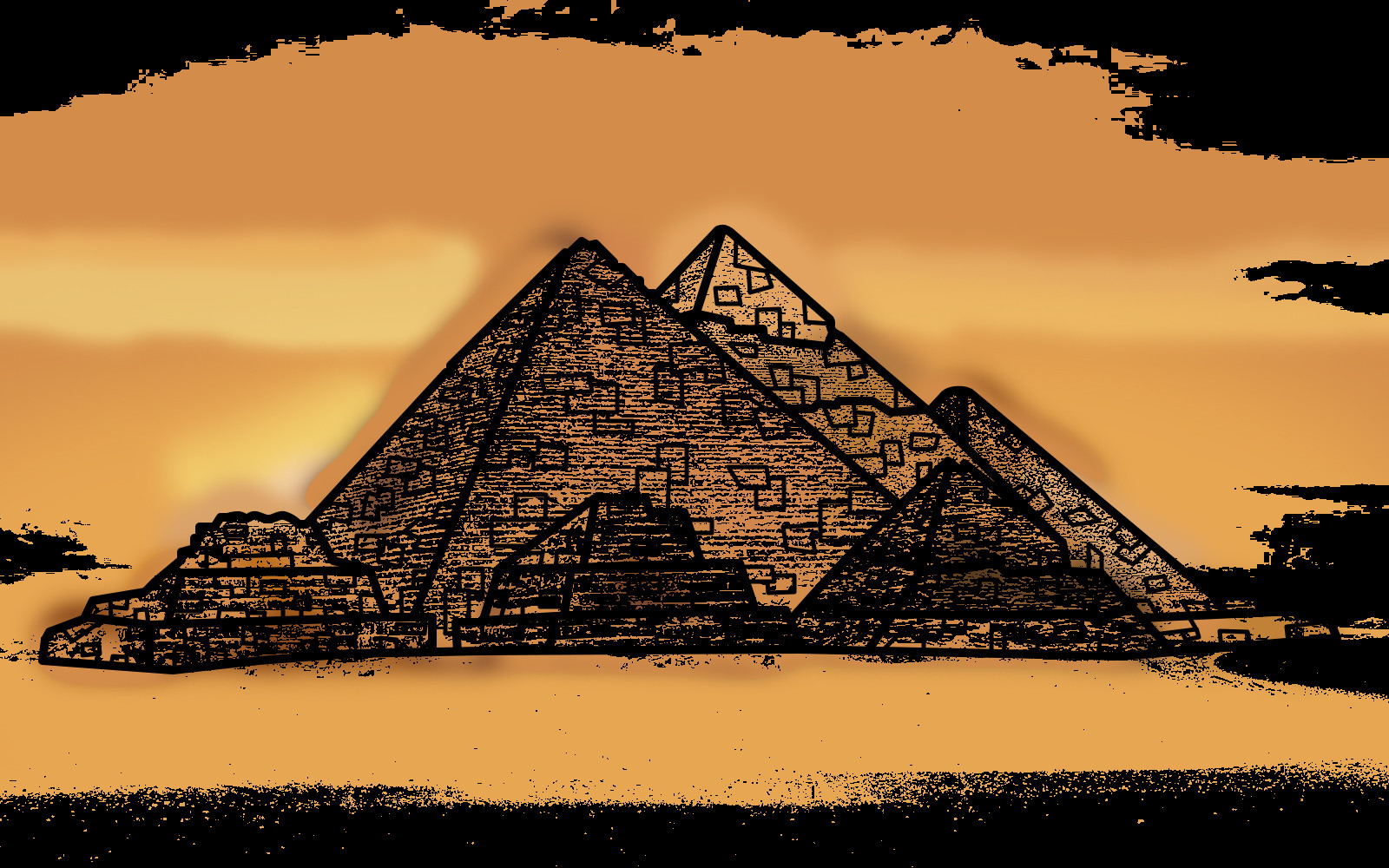Rustic orcullo great pyramid of giza