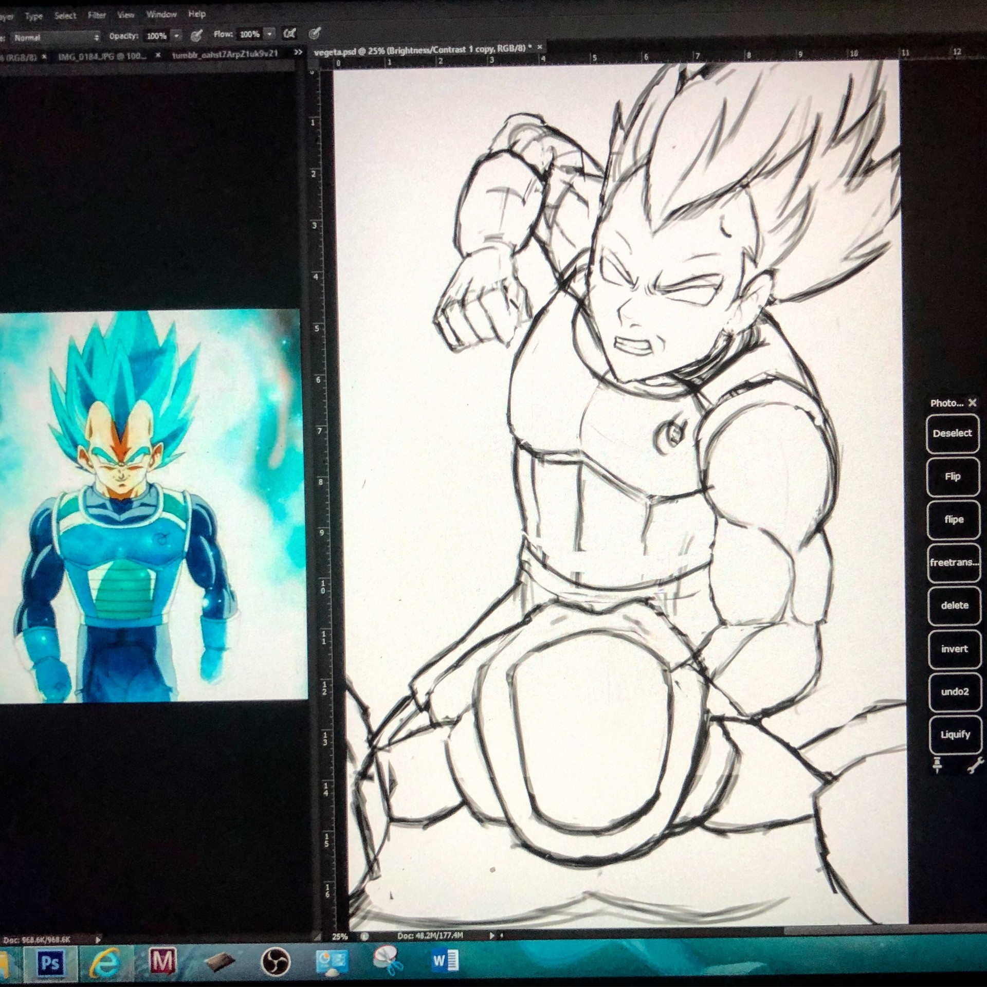 Rough sketch with references(other refs on another screen)
