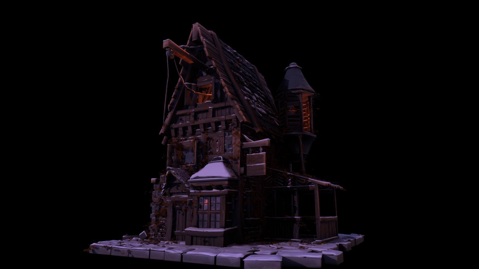 House snow PoliigonChristmas2017