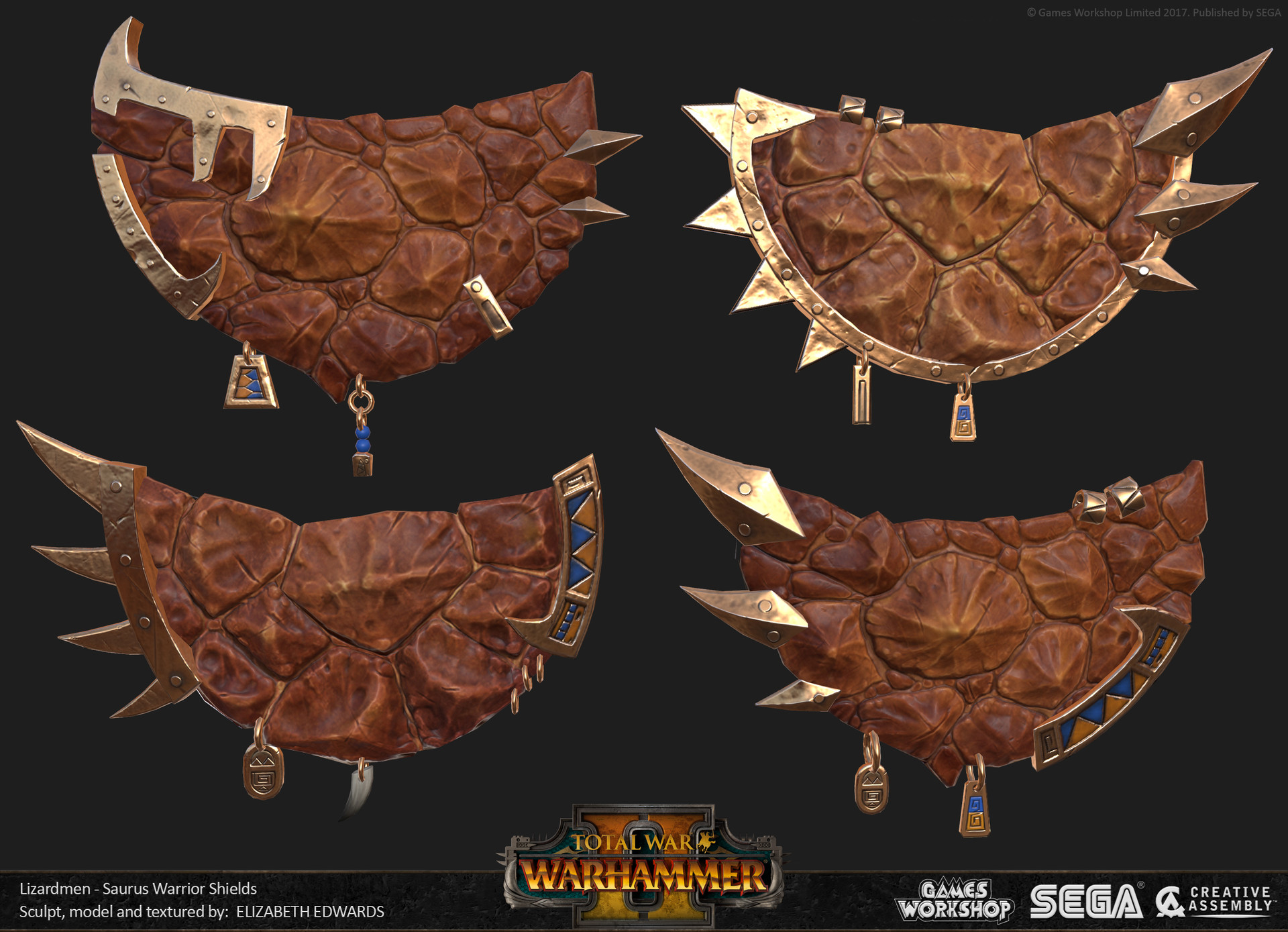 Liz edwards lzd saurus warriors shields 01