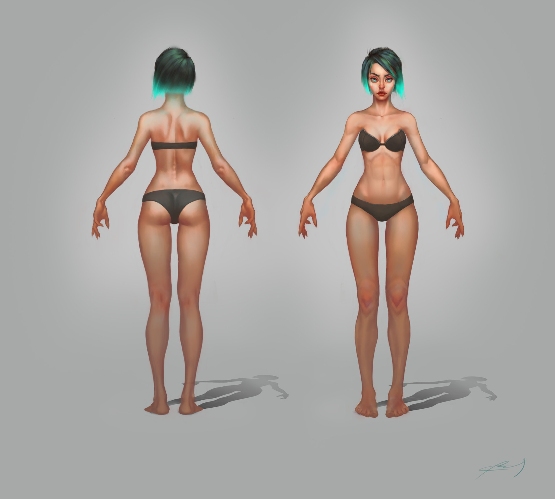 Artstation Stylized Female Anatomy Gonzo Journey