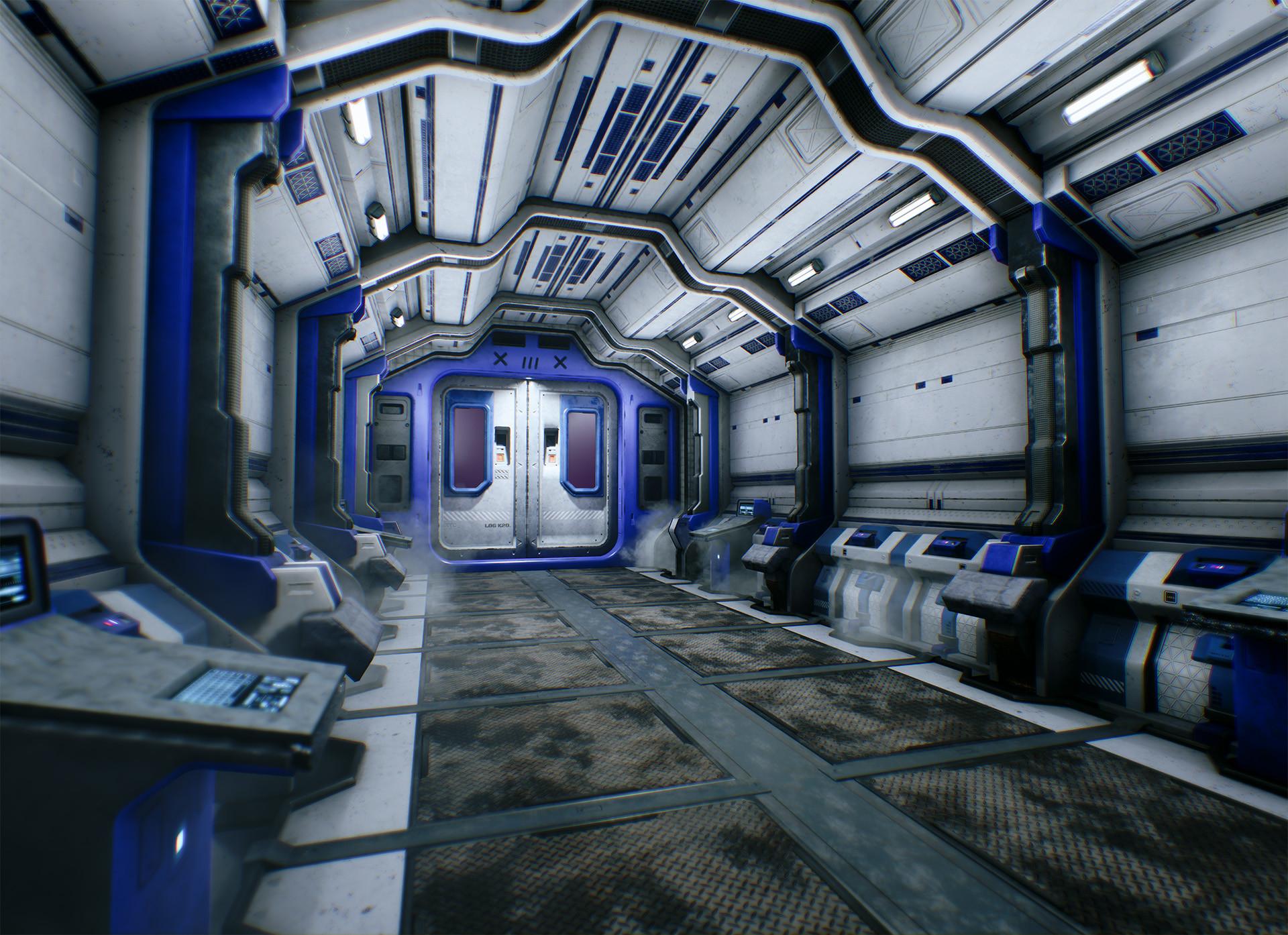 Chris arnold scifi corridor beauty