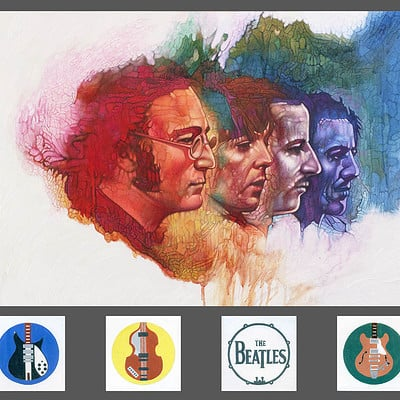 Dot line surface art studio beatles