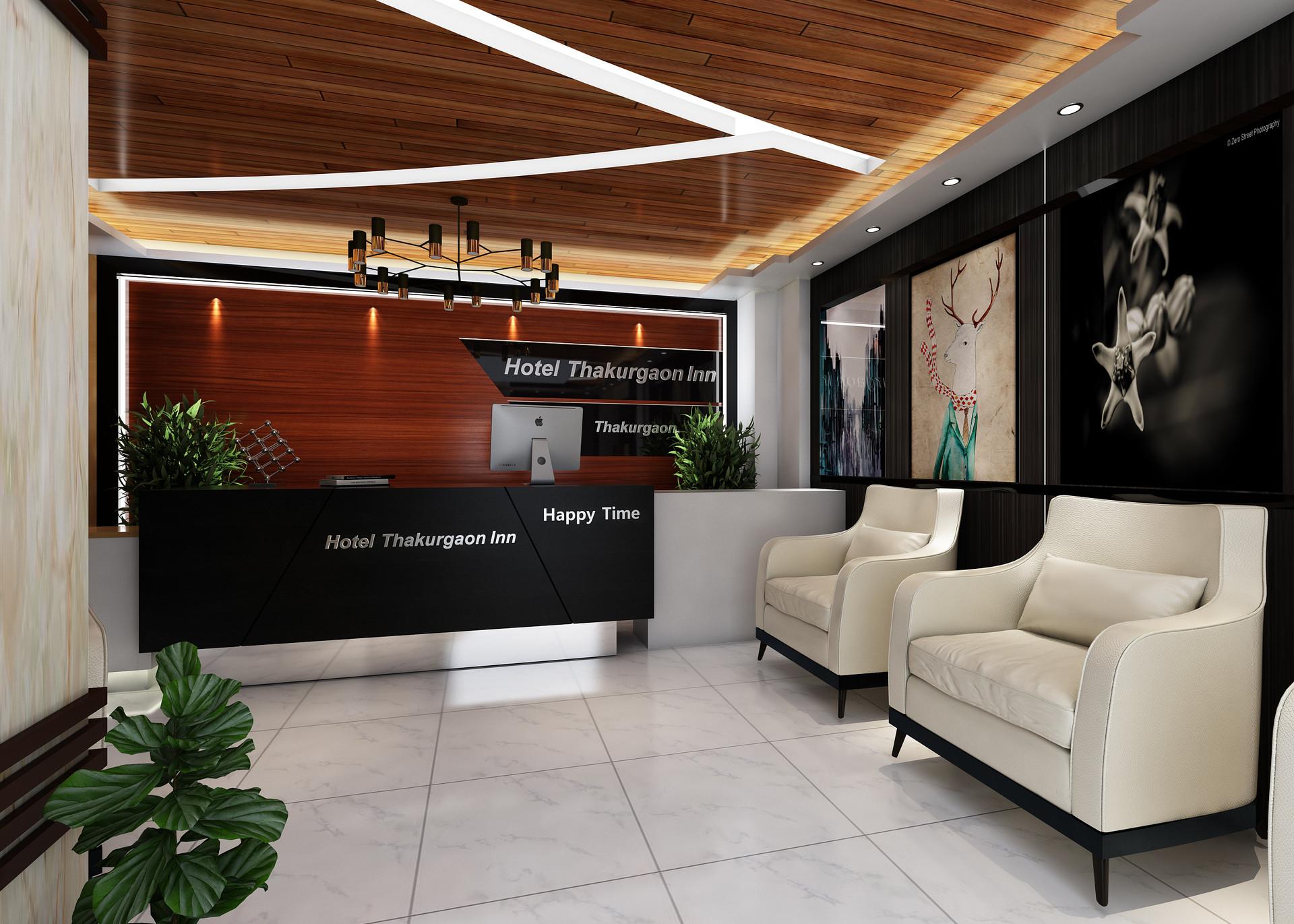 Artstation Hotel Reception Interior Design Arafatul Islam Shakkhor