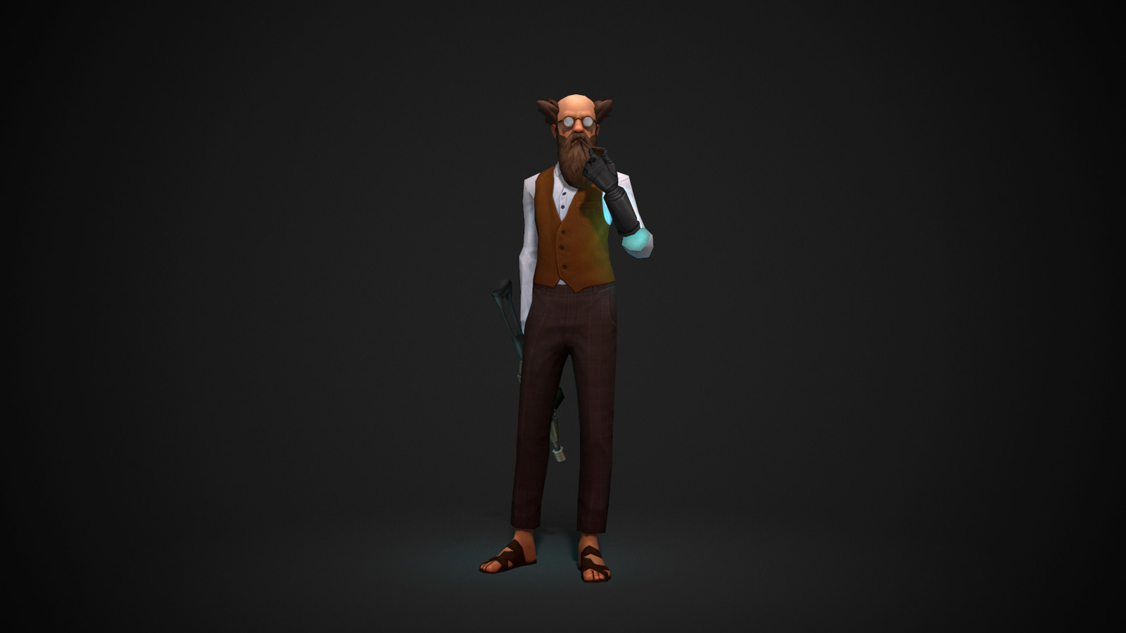 Man and Gun - Low Poly Character