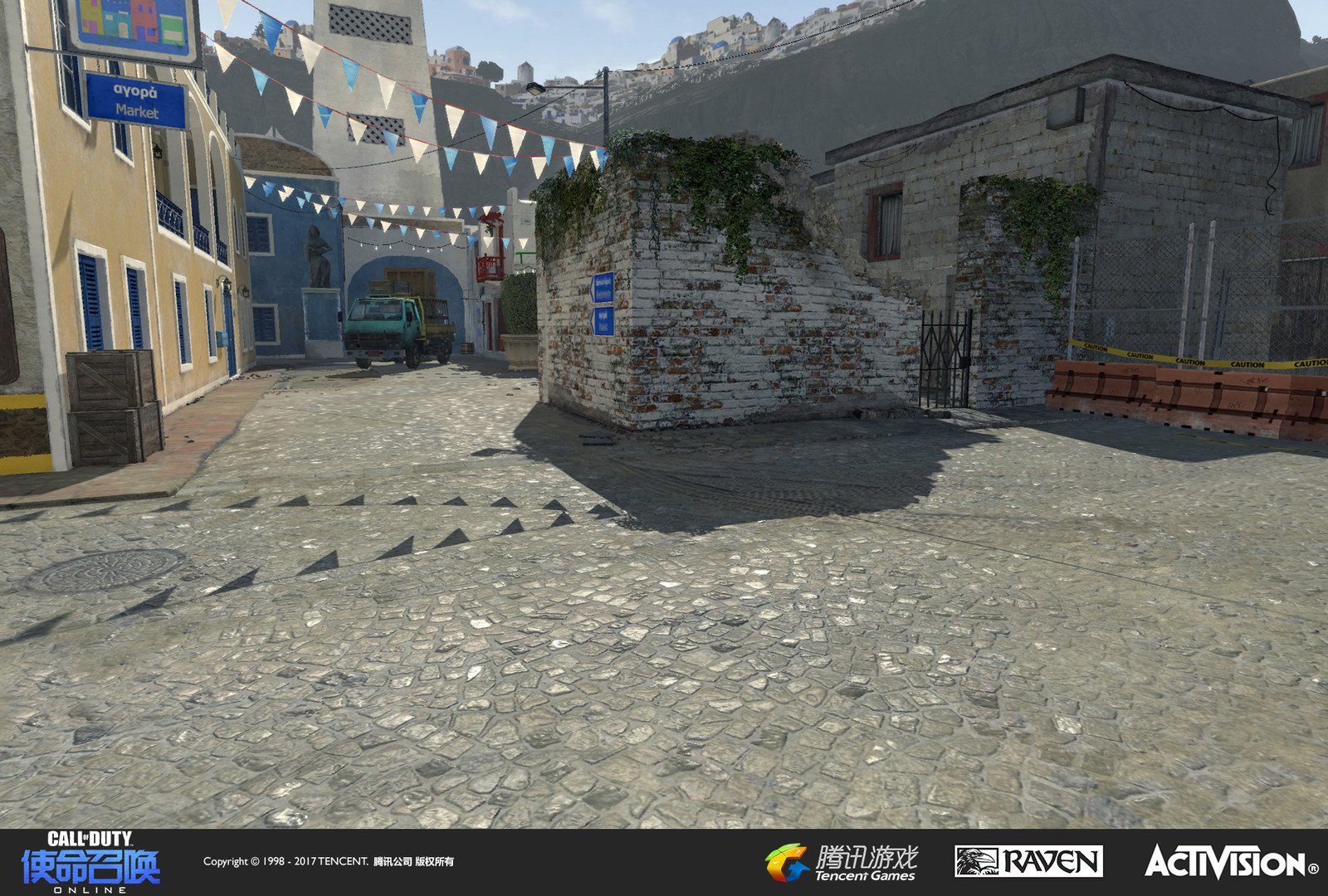 Terrain work geo and materials. Some of these building structures were built by our Shanghai environment artists.