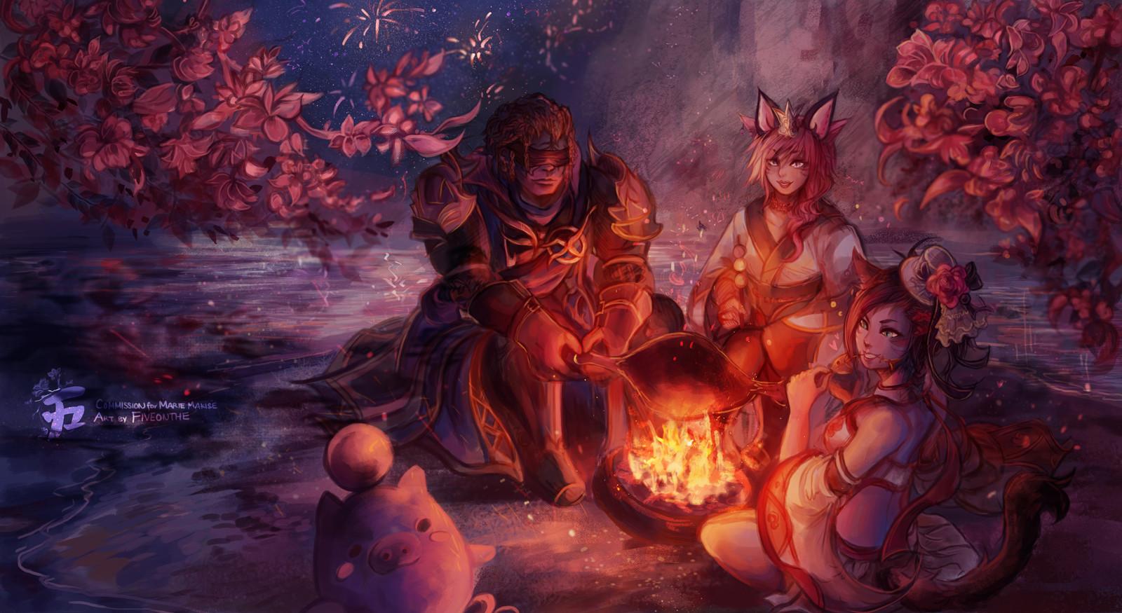 Under the Yanxian Night.