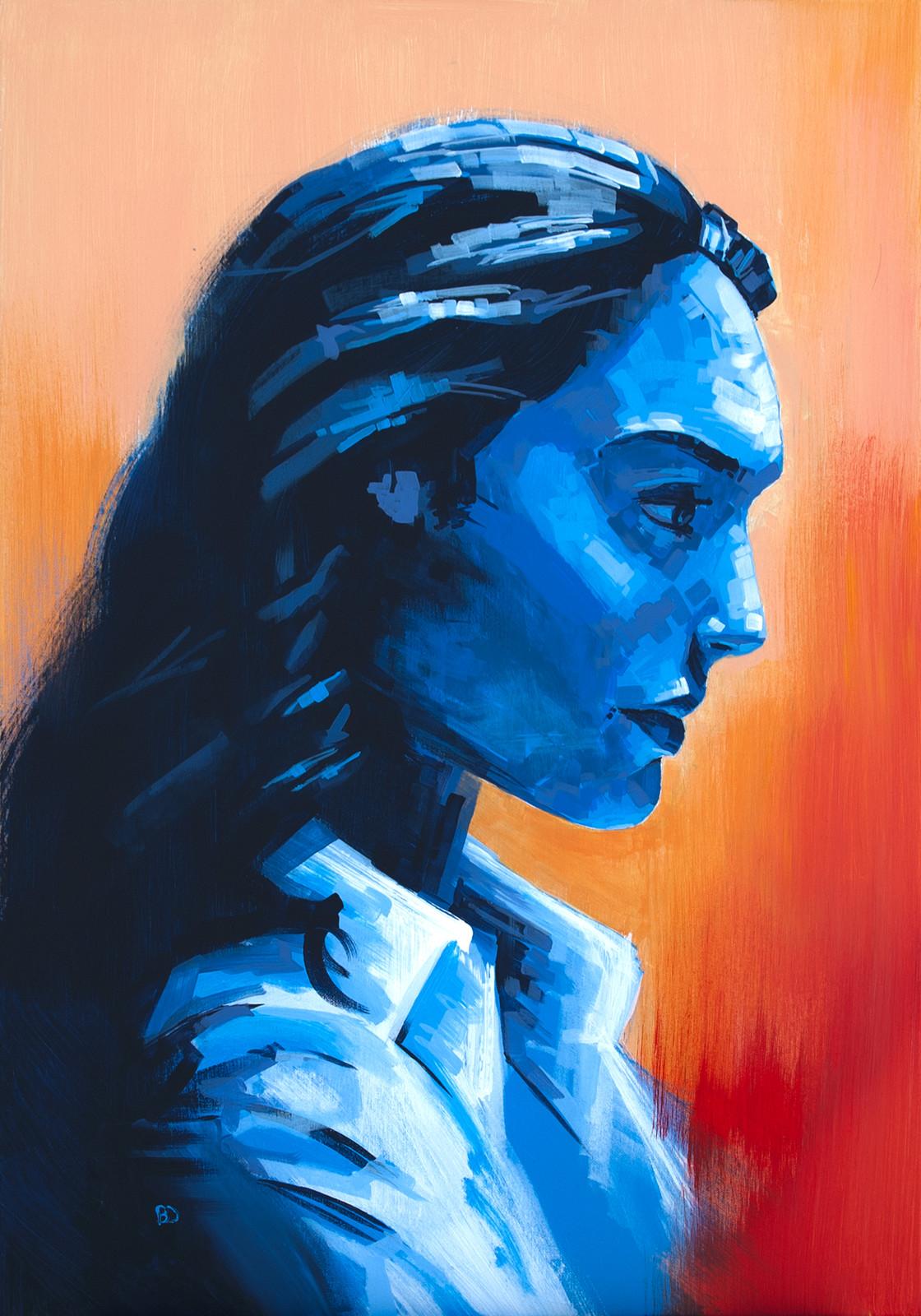 Daydream, Malfeasance Acrylic on canvas (70 x 100cm)